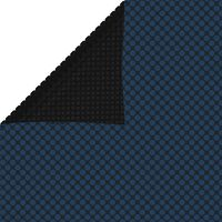 vidaXL Pellicola Galleggiante Solare PE Piscina 975x488 cm Nero e Blu