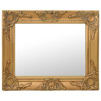 vidaXL Specchio da Parete Stile Barocco 50x40 cm Oro