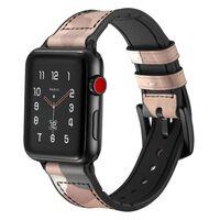 Bracciale per Apple Watch 42 mm - Pelle / silicone - Camouflage beige