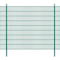 vidaXL Pannello di recinzione 2D giardino con paletti 2008x1830 mm 24m verde