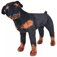 vidaXL Rottweiler di Peluche Giocattolo Nero e Marrone XXL