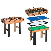 HomCom Tavolo Multi gioco 4 in 1 con Calcio Balilla Hockey