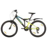 "vidaXL Mountain Bike 21 Speed 26"" Ruote 49 cm Nero"