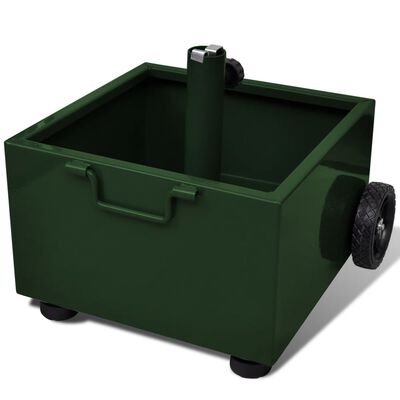 vidaXL Fioriera da Esterno con Supporto Ombrellone Verde