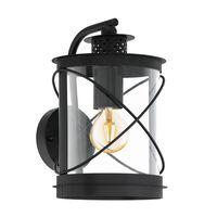 EGLO Luce da Parete Esterna Hilburn 20x20x28 cm Nera