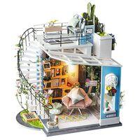 Robotime Kit in Miniatura Fai da Te Dora's Loft con Luce LED