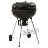 vidaXL Griglia Barbecue a Carbone 73x58x96 cm Acciaio