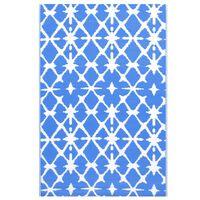 vidaXL Tappeto da Esterni Blu e Bianco 160x230 cm in PP