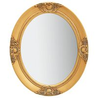 vidaXL Specchio da Parete Stile Barocco 50x60 cm Oro