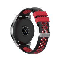 Bracciale in silicone Samsung Gear S3 Frontier / Classic Black / Red