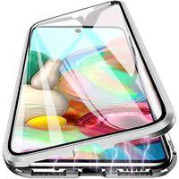 Custodia per telefono in vetro temperato per Samsung Galaxy A71 argent