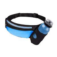 Marsupio sportivo con porta bottiglia - blu / nero