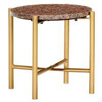 vidaXL Tavolino da Caffè Marrone 40x40x40 cm Pietra Vera Testura Marmo