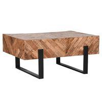 LABEL51 Tavolino da Salotto Float 90x60x40 cm Legno/Nero