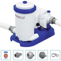 Bestway Pompa con Filtro per Piscina Flowclear 9463 L/h