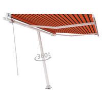 vidaXL Tenda da Sole Automatica Autoportante 350x250cm Arancio Marrone