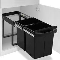 vidaXL Pattumiera Estraibile per Mobile Cucina Eco 48 L Soft-Close