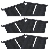 vidaXL Pannelli Solari Riscaldatori per Piscina 6 pz 80x310 cm