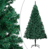 vidaXL Albero di Natale Artificiale con Rami Folti Verde 210 cm PVC
