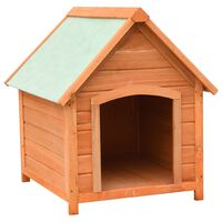 vidaXL Cuccia per Cani in Legno Massello di Pino e Abete 72x85x82 cm