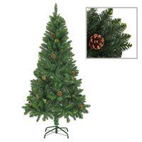 vidaXL Albero di Natale Artificiale con Pigne Verde 150 cm