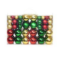 Palline di Natale 100 pz Rosso/Oro/Verde