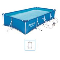 Bestway Steel Pro Set Piscina Rettangolare 400x211x81 cm 56424