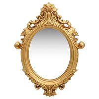 vidaXL Specchio da Parete Stile Castello 56x76 cm Oro