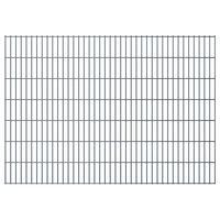 vidaXL 2D Pannelli Recinzione Giardino 2,008x1,43m 6 m (Totale) Grigio