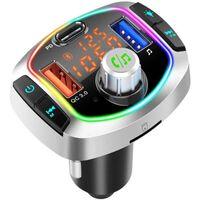 Trasmettitore FM con ricarica rapida e LED - Nero