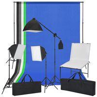 vidaXL Kit Studio Fotografico con Tavolo Fotografico Luci e Sfondi