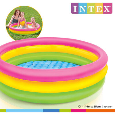Intex Piscina Gonfiabile Sunset con 3 Anelli 114x25 cm