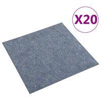 vidaXL Quadrotte di Moquette 20 pz 5 m² Blu
