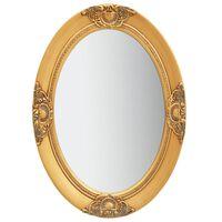 vidaXL Specchio da Parete Stile Barocco 50x70 cm Oro