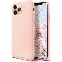 Custodia in silicone liquido per iPhone 11 Pro rosa chiaro