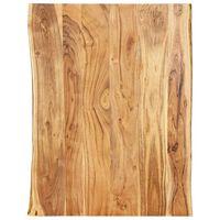 vidaXL Piano del Tavolo in Legno Massello di Acacia 80x(50-60)x2,5 cm