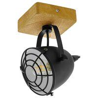 "EGLO Spot Light ""Gatebeck""  1 Lamp Steel and Wood Black"