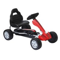 Homcom Go Kart a Pedali per Bambini 3-8 Anni, Rosso