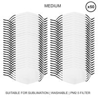 Mascherine per Sublimazione - medie - 50 Pezzi