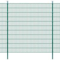 Pannelli per recinzione da giardino con pali 2008x2230 mm 22 m Verde