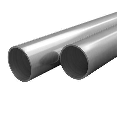 vidaXL Tubi in Acciaio Inossidabile Rotondi 2 pz V2A 1m Ø42x1,8mm