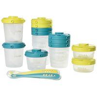 Beaba Set Contenitori per Alimenti 1st Meal Verde e Blu