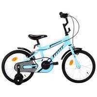 vidaXL Bici per Bambini 16 Pollici Nera e Blu