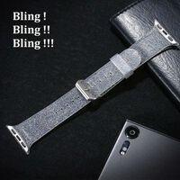 Bracciale Apple Watch 38 mm - argento glitterato