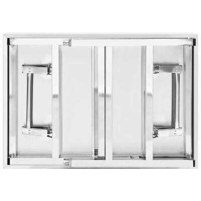 vidaXL Tavolo da Lavoro Cucina Pieghevole 85x60x80 cm in Acciaio Inox