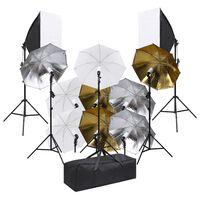 vidaXL Kit per Studio Fotografico con Set Illuminazione e Softbox