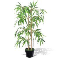 vidaXL Pianta Artificiale Bambù Twiggy con Vaso 90 cm