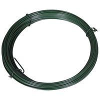 vidaXL Filo di Legatura per Recinzione 25 m 1,4/2 mm Acciaio Verde