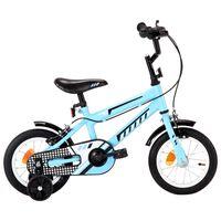 vidaXL Bici per Bambini 12 Pollici Nera e Blu