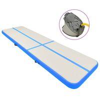 vidaXL Tappetino Ginnastica Gonfiabile con Pompa 700x100x15cm PVC Blu